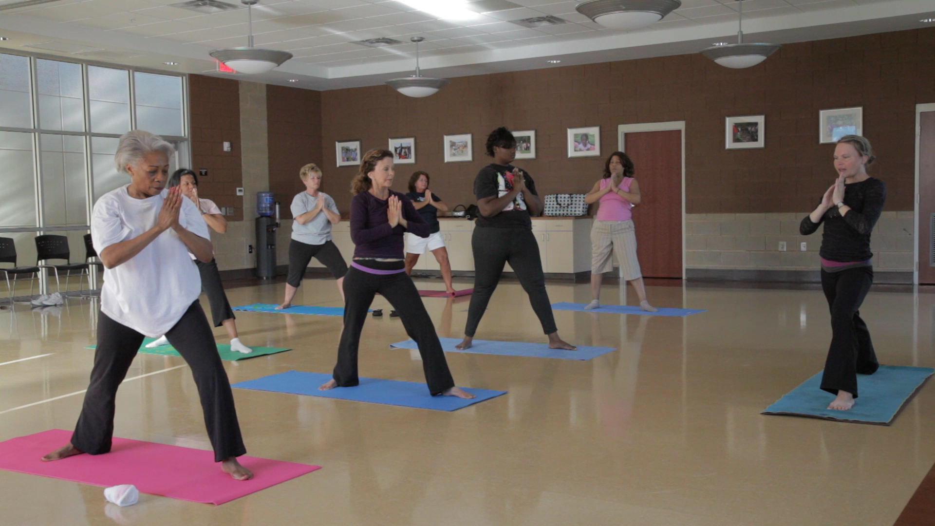 Yoga and a wide variety of other wellness and exercise classes are offered at C.C. Woodson.