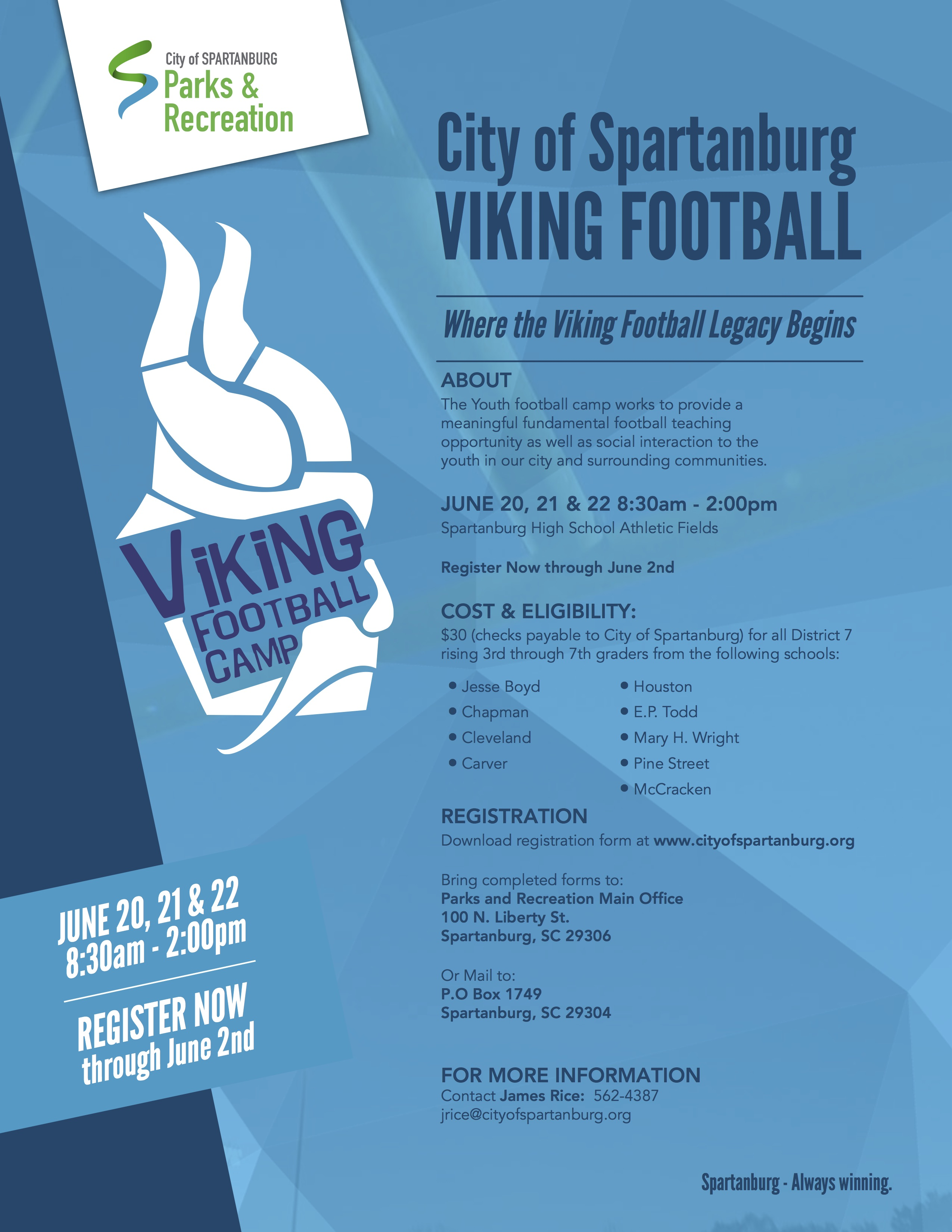 Viking Youth Football Camp