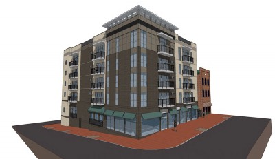 Mixed-use development rendering
