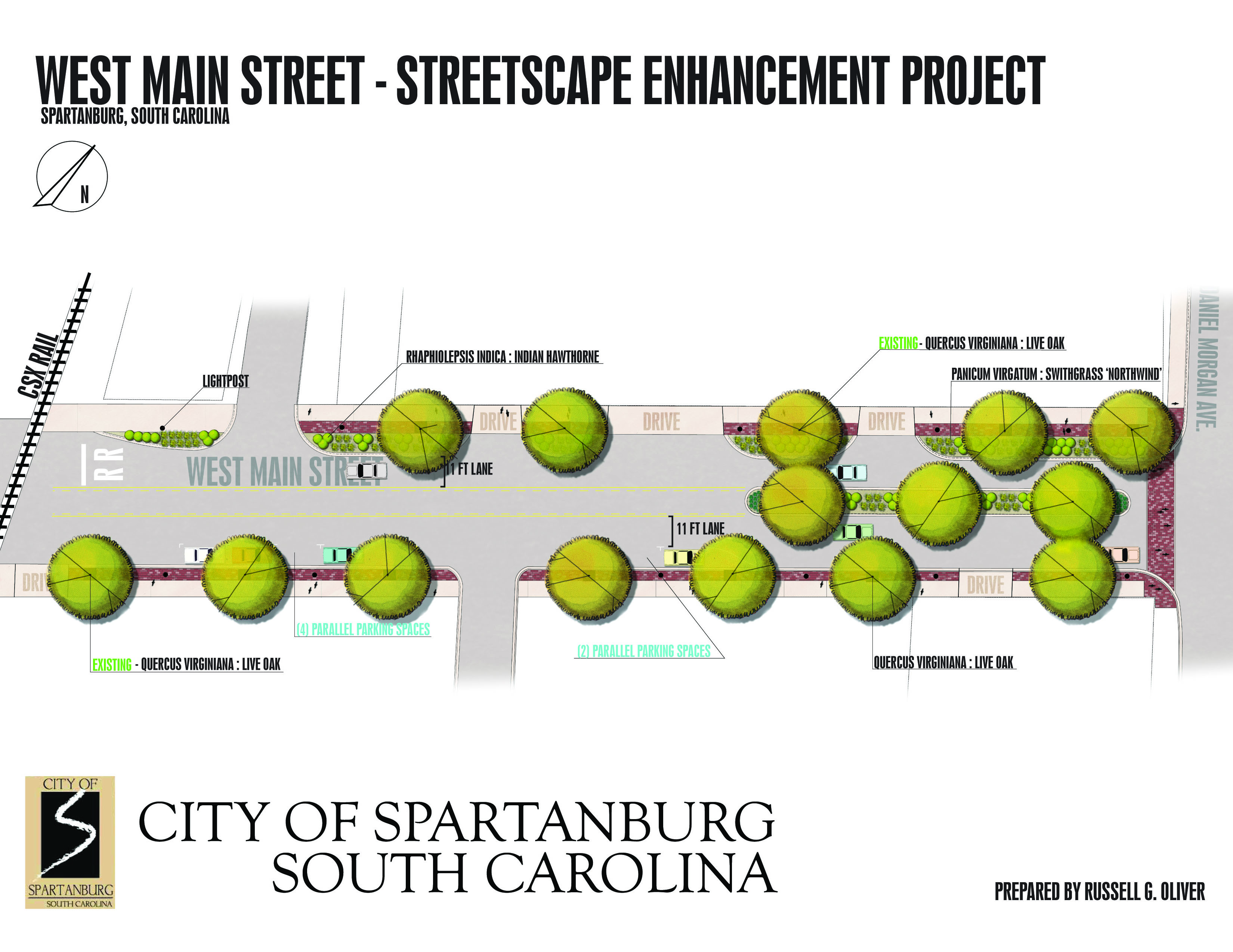 West Main Street Improvement Project rendering. Project to be completed in October 2012.